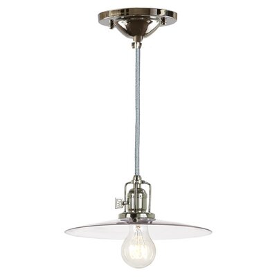 Edgar 1-Light Cone Mini Pendant Finish: Polished Nickel