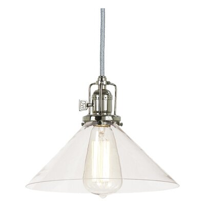 Edgar 1-Light Mouth Blown Glass Mini Pendant Finish: Polished Nickel