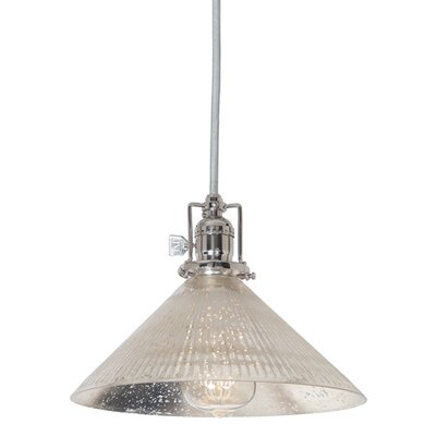 Edgar 1-Light Antique Mercury Glass Mini Pendant Finish: Polished Nickel