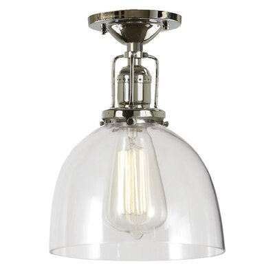 Edgar Modern 1-Light Semi Flush Mount Finish: Polished Nickel