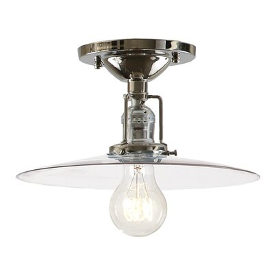 Edgar 1-Light Semi Flush Mount Finish: Polished Nickel
