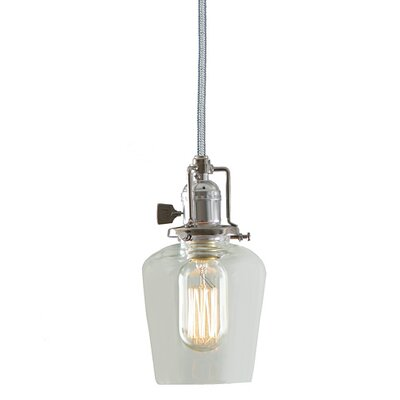 Edgar 1-Light Clear Glass Mini Pendant Finish: Polished Nickel