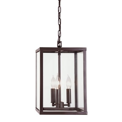 Carnegie 3-Light Foyer Pendant Finish: Oil Rubbed Bronze