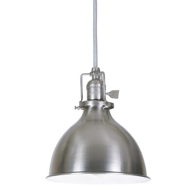 Edgar 1-Light Metal Shade Mini Pendant Finish: Pewter