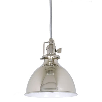 Edgar 1-Light Metal Shade Mini Pendant Finish: Polished Nickel