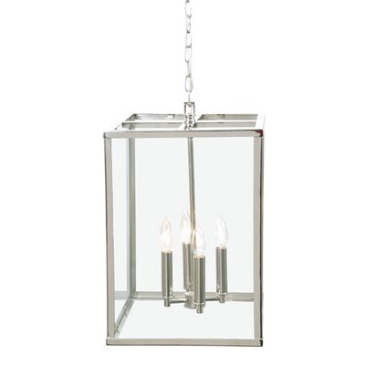 Carnegie 4-Light Foyer Pendant Finish: Polished Nickel