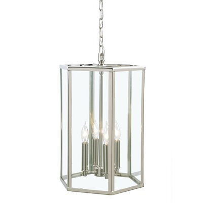 George 4-Light Foyer Pendant Finish: Polished Nickel