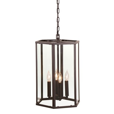 George 4-Light Foyer Pendant Finish: Oil Rubbed Bronze