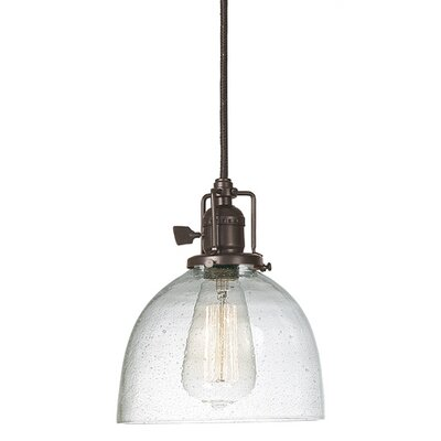 Edgar 1-Light Empire Mini Pendant Finish: Oil Rubbed Bronze, Shade Color: Clear