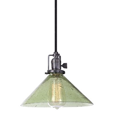 Union Square 1-Light Mini Pendant Finish: Gun Metal, Shade Color: Lime