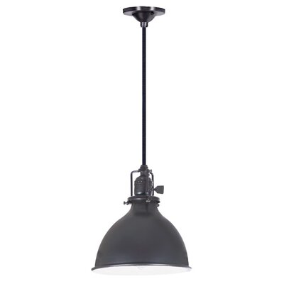 Edgar 1-Light Metal Shade Mini Pendant Finish: Gun Metal