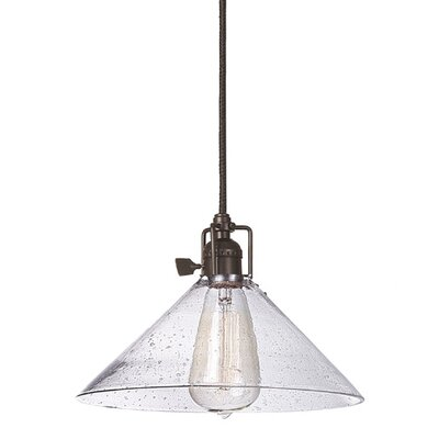 Union Square 1-Light Mini Pendant Finish: Oil Rubbed Bronze, Shade Color: Clear