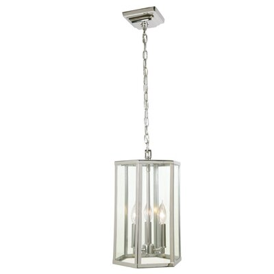 George 3-Light Foyer Pendant Finish: Polished Nickel