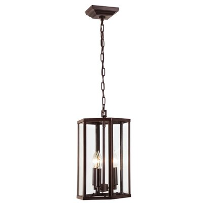George 3-Light Foyer Pendant Finish: Oil Rubbed Bronze