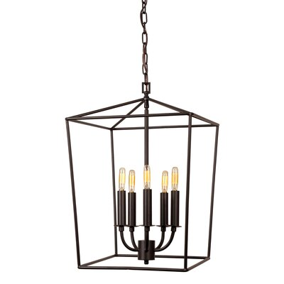 Cheung 5-Light Foyer Pendent Finish: Oil Rubbed Bronze