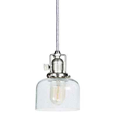 Edgar Bubble 1-Light Mini Pendant Finish: Pewter