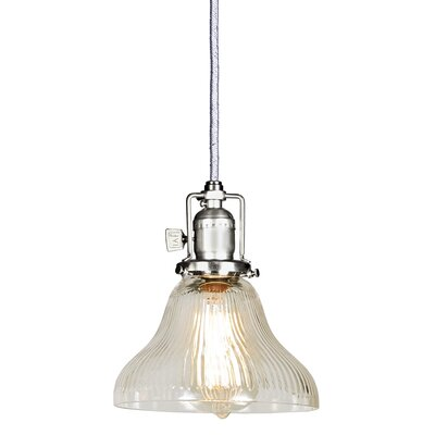 Edgar Bell 1-Light Mini Pendant Finish: Pewter, Shade Color: Clear
