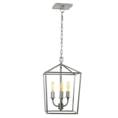 Cheung 3-Light Foyer Pendant Finish: Aged Silver