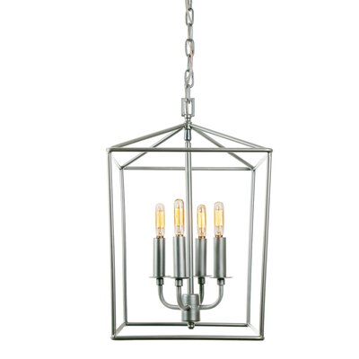Cheung 4-Light Foyer Pendent Finish: Aged Silver
