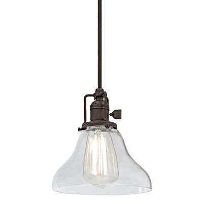 Edgar Bell 1-Light Mini Pendant Finish: Oil Rubbed Bronze