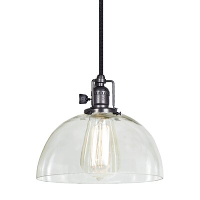 Edgar 1-Light Mini Pendant Finish: Gun Metal