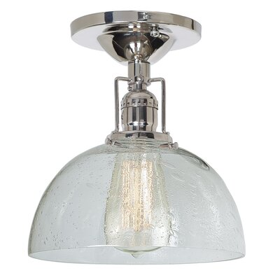 Edgar Bubble 1-Light Semi Flush Mount Finish: Polished Nickel