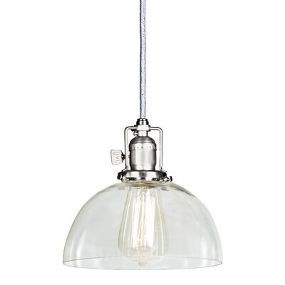 Edgar 1-Light Mini Pendant Finish: Pewter