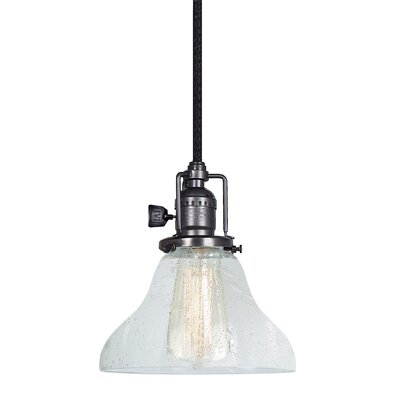 Edgar Bell Bubble 1-Light Mini Pendant Finish: Gun Metal