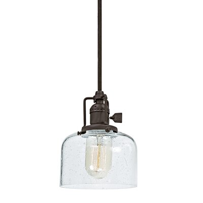 Edgar Bubble 1-Light Mini Pendant Finish: Oil Rubbed Bronze