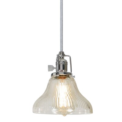 Edgar Bell 1-Light Mini Pendant Finish: Polished Nickel, Shade Color: Antique Mercury