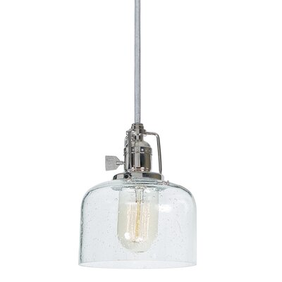 Edgar Bubble 1-Light Mini Pendant Finish: Polished Nickel
