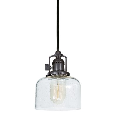 Edgar Bubble 1-Light Mini Pendant Finish: Gun Metal