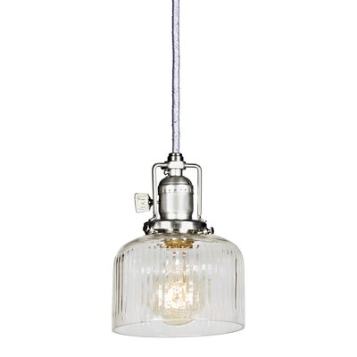 Edgar 1-Light Mini Pendant Finish: Pewter, Shade Color: Clear