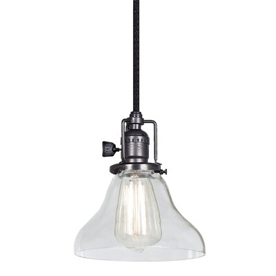 Edgar Bell 1-Light Mini Pendant Finish: Gun Metal
