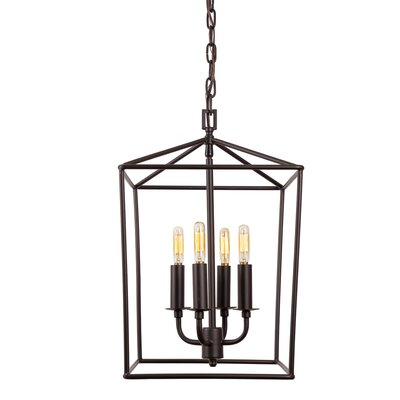 Cheung 4-Light Foyer Pendent Finish: Oil Rubbed Bronze