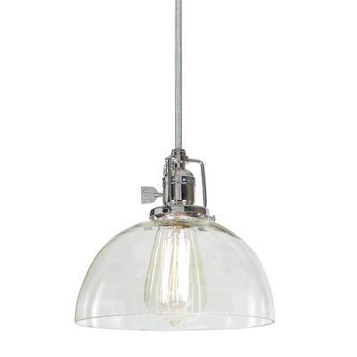 Edgar 1-Light Mini Pendant Finish: Polished Nickel