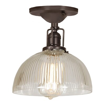 Edgar 1-Light Semi Flush Mount Finish: Oil Rubbed Bronze
