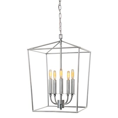 Cheung 5-Light Foyer Pendent Finish: Aged Silver