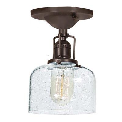 Edgar Bubble 1-Light Semi Flush Mount Finish: Oil Rubbed Bronze