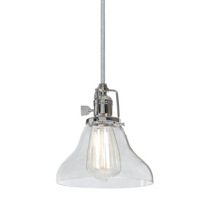 Edgar Bell 1-Light Mini Pendant Finish: Polished Nickel