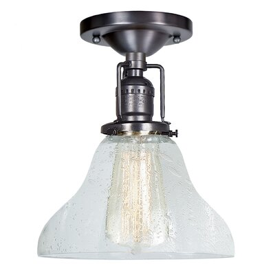 Edgar Bell Bubble 1-Light Semi Flush Mount Finish: Gun Metal