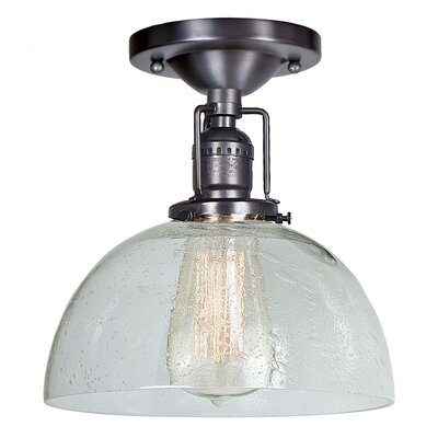 Edgar Bubble 1-Light Semi Flush Mount Finish: Gun Metal