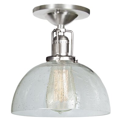 Edgar Bubble 1-Light Semi Flush Mount Finish: Pewter