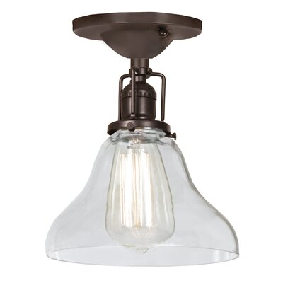 Edgar Bell 1-Light Semi Flush Mount Finish: Oil Rubbed Bronze