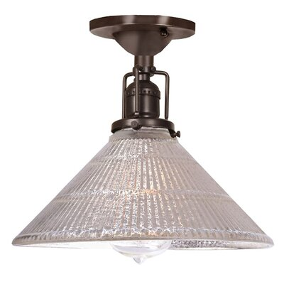 Edgar Mercury 1-Light Semi Flush Mount Finish: Oil Rubbed Bronze