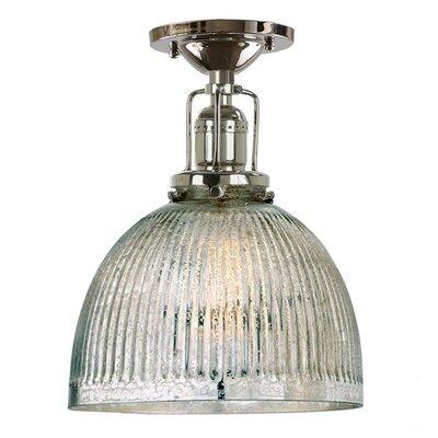 Edgar Mercury 1-Light Semi Flush Mount Finish: Polished Nickel