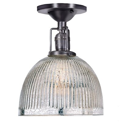 Edgar Mercury 1-Light Semi Flush Mount Finish: Gun Metal