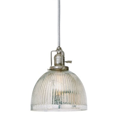 Edgar Mercury 1-Light Mini Pendant Finish: Polished Nickel
