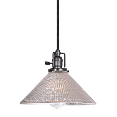 Edgar Mercury 1-Light Mini Pendant Finish: Gun Metal