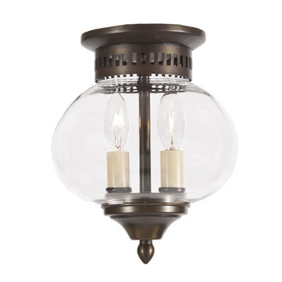 Classic Onions 2-Light Small Flush Mount Finish: Weathered Bronze
